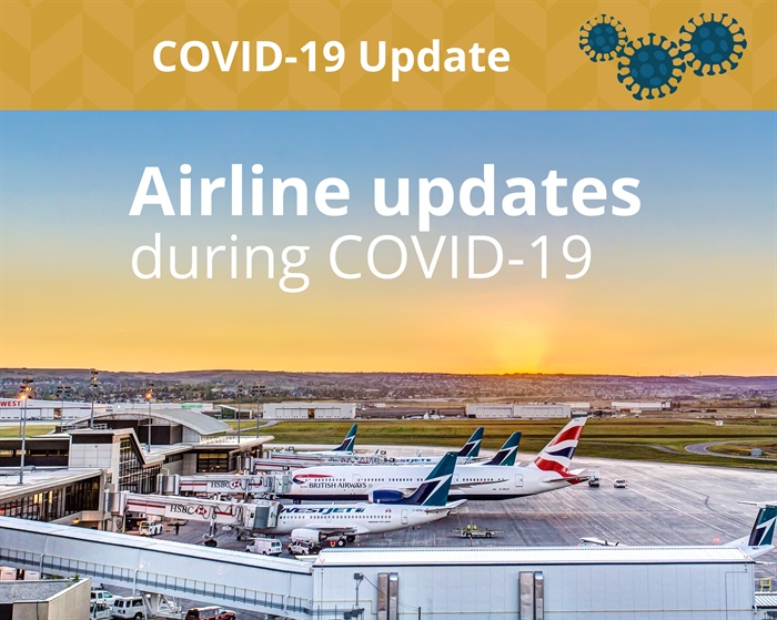 Airline updates during COVID-19